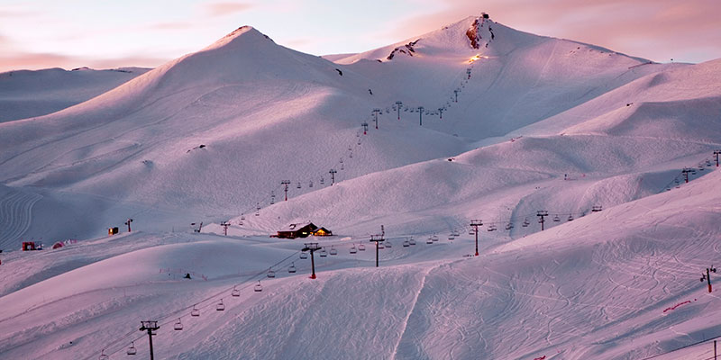 valle nevado sunset