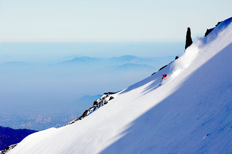 Skiing in La Parva Chile