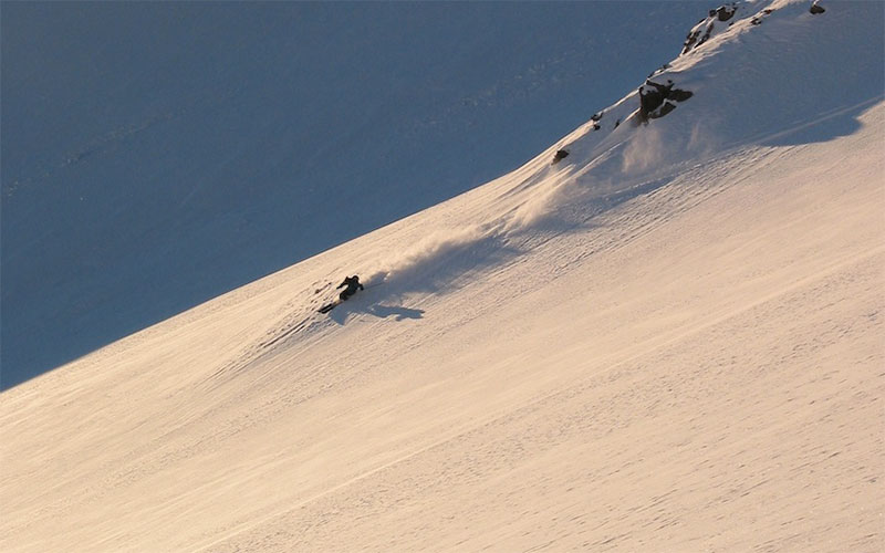 cat skiing in arpa chile